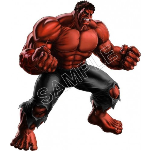 Red Hulk T Shirt Iron on Transfer Decal #2 by www.shopironons.com