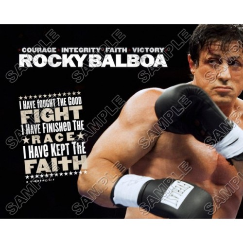 Rocky Balboa Stallone T Shirt Iron on Transfer Decal #3 by www.shopironons.com