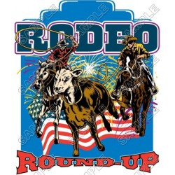 Rodeo T Shirt Iron on Transfer Decal #1