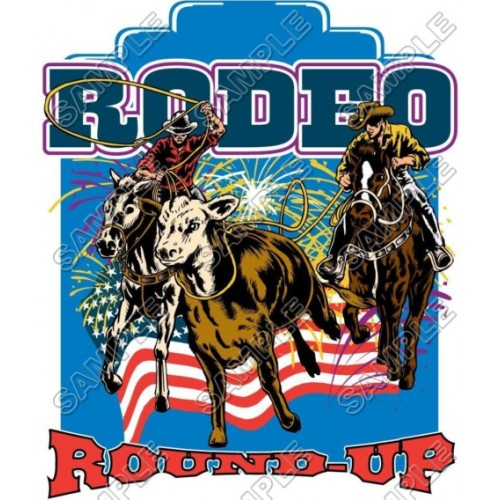 Rodeo T Shirt Iron on Transfer Decal #1 by www.shopironons.com