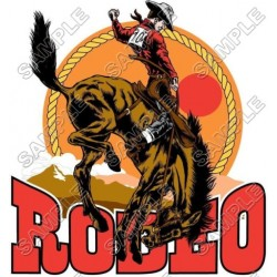 Rodeo T Shirt Iron on Transfer Decal #2
