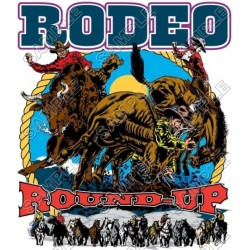 Rodeo T Shirt Iron on Transfer Decal #3