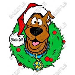 Scooby-Doo Christmas T Shirt Iron on Transfer Decal #8