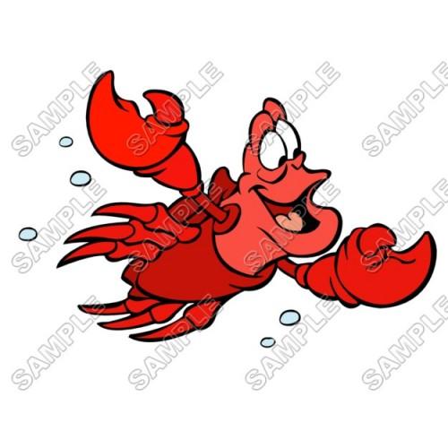 Sebastian Little Mermaid T Shirt Iron on Transfer Decal #7 by www.shopironons.com