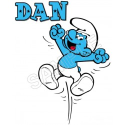Smurf Personalized Custom T Shirt Iron on Transfer Decal #54