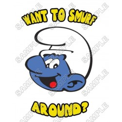 Smurf T Shirt Iron on Transfer Decal #14