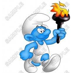 Smurf T Shirt Iron on Transfer Decal #2