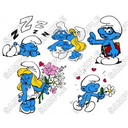 Smurfs T Shirt Iron on Transfer Decal #31