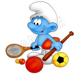 Smurfs T Shirt Iron on Transfer Decal #45