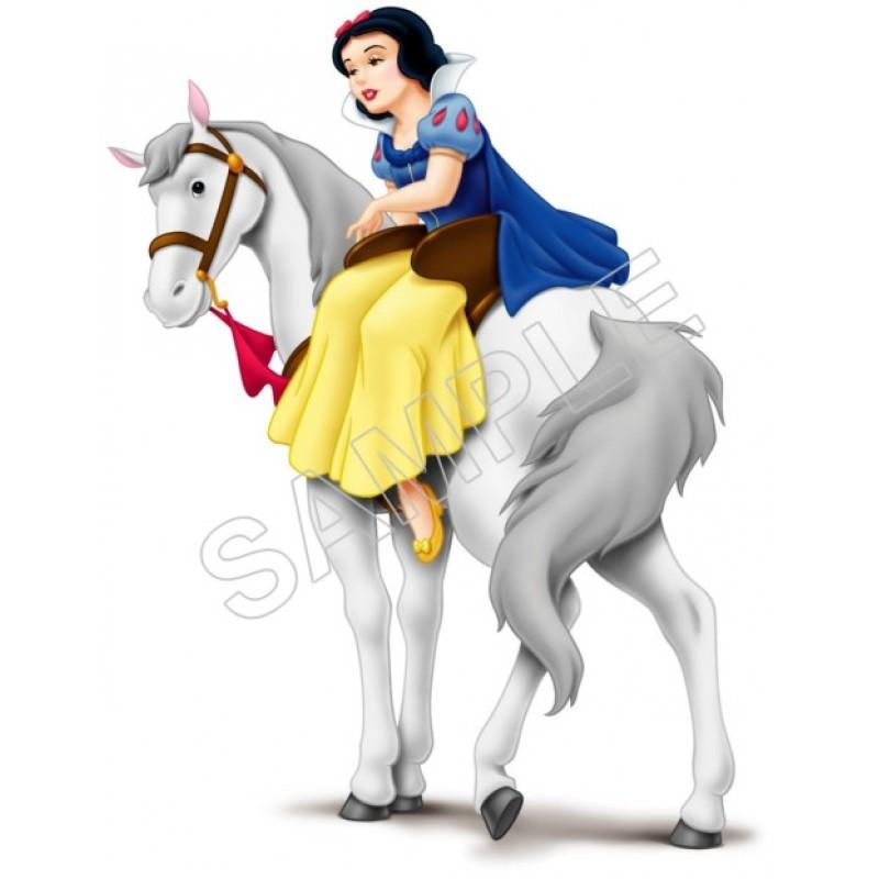 Snow White Iron On Transfer 4x7 For LIGHT Fabrics