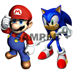 Sonic and Mario T Shirt Iron on Transfer Decal #22