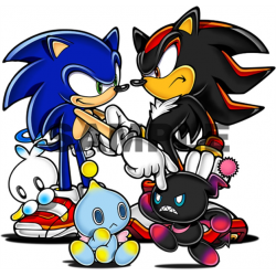 Sonic Shadow T Shirt Iron on Transfer Decal #19