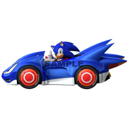 Sonic T Shirt Iron on Transfer Decal #4