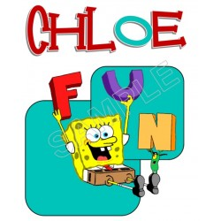 SpongeBob Birthday Personalized Custom T Shirt Iron on Transfer Decal #111