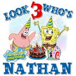 SpongeBob Birthday Personalized Custom T Shirt Iron on Transfer Decal #45