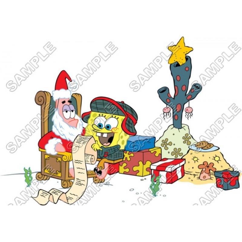 Spongebob Christmas.Spongebob Christmas T Shirt Iron On Transfer Decal 3
