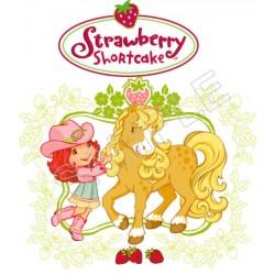 Strawberry Shortcake T Shirt Iron on Transfer Decal #6
