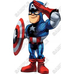 Super Hero Squad Captain America T Shirt Iron on Transfer Decal #7