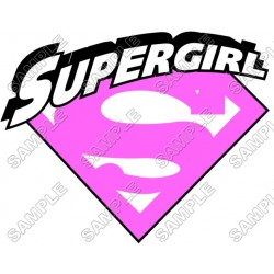 SuperGirl Pink Logo T Shirt Iron on Transfer Decal #3