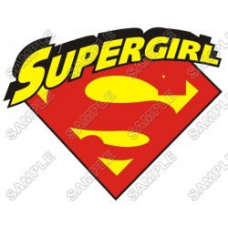 SuperGirl T Shirt Iron on Transfer Decal #2