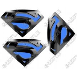Superman Logo Blue T Shirt Iron on Transfer Decal #6