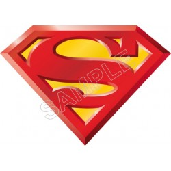 Superman Logo T Shirt Iron on Transfer Decal #14