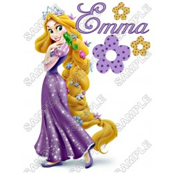 Tangled Rapunzel Birthday Personalized Custom T Shirt Iron on Transfer Decal #18