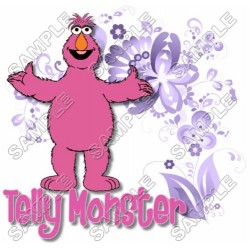 Telly Monster Sesame street T Shirt Iron on Transfer Decal #17