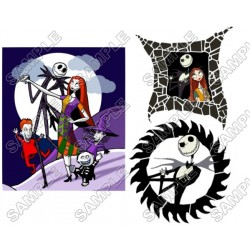 The Nightmare Before Christmas T Shirt Iron on Transfer Decal #1