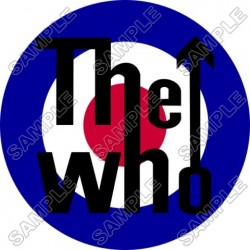 The Who (Band) T Shirt Iron on Transfer Decal #2