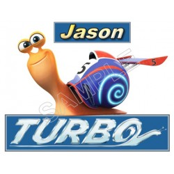 Turbo (Snail) Personalized Custom T Shirt Iron on Transfer Decal #1