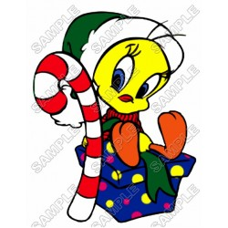 Tweety Christmas T Shirt Iron on Transfer Decal #4