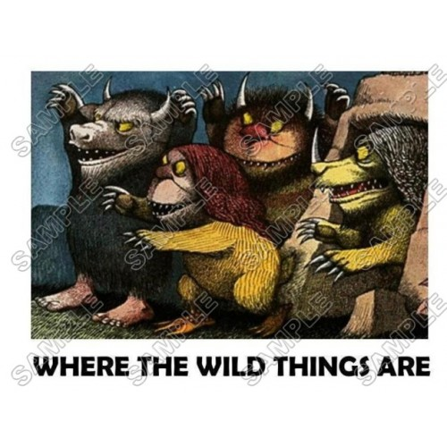 Where the Wild Things Are T Shirt Iron on Transfer Decal #9 by www.shopironons.com