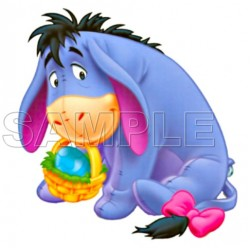 Winnie the Pooh Eeyore Easter T Shirt Iron on Transfer Decal #1