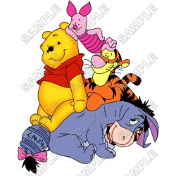 Winnie the Pooh Eeyore Tiger T Shirt Iron on Transfer Decal #12