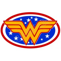 Wonder Woman Logo T Shirt Iron on Transfer Decal #1