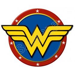 Wonder Woman Logo T Shirt Iron on Transfer Decal #2