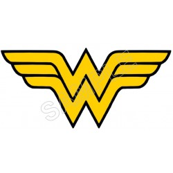 Wonder Woman Logo T Shirt Iron on Transfer Decal #3