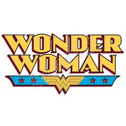 Wonder Woman Logo T Shirt Iron on Transfer Decal #7