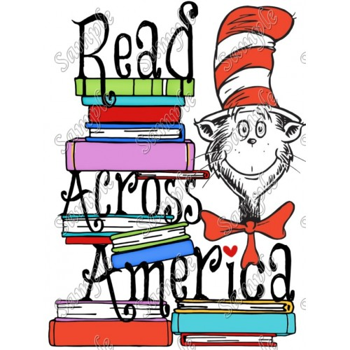 Read Across America T Shirt Iron on Transfer Decal #31 by www.shopironons.com