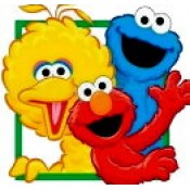 Cookie Monster,Elmo