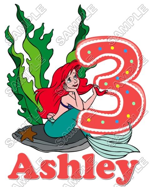 Ariel The Little Mermaid Birthday Personalized Custom T