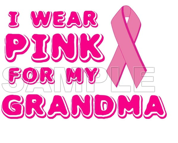 Breast Cancer Awareness I Wear Pink For My Grandma T