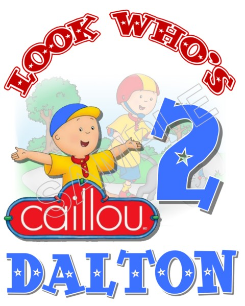 Caillou Birthday Personalized Custom T Shirt Iron On