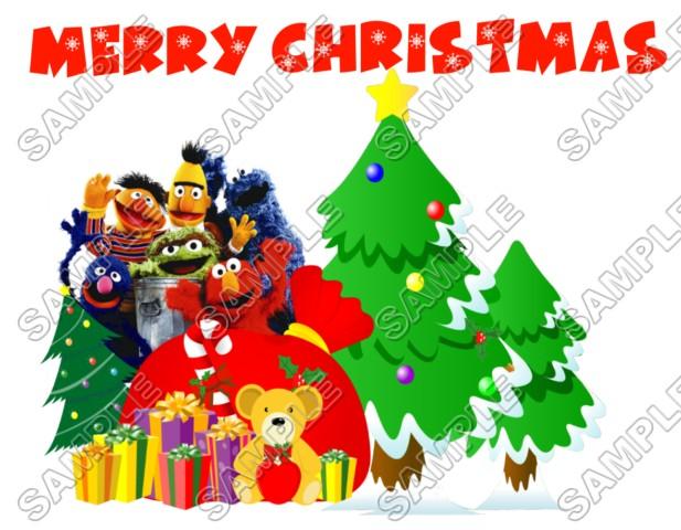 Christmas Sesame Street Elmo T Shirt Iron On Transfer