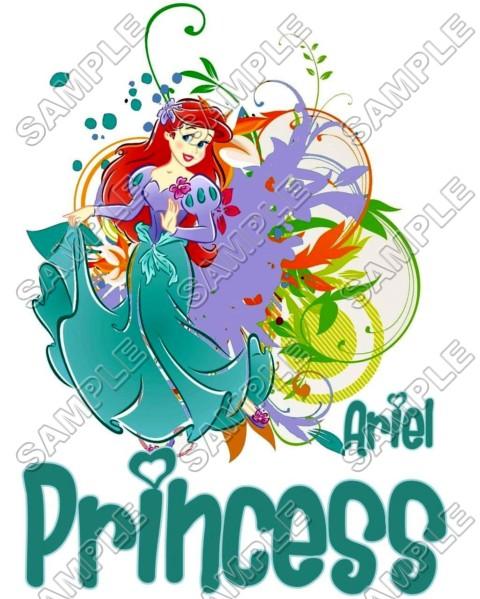 Disney Princess Ariel Little Mermaid T Shirt Iron On
