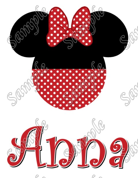 Disney vacation minnie mouse personalized custom t shirt for Custom t shirt transfers