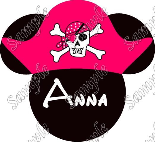 Disney world vacation minnie mouse pirate custom for Custom t shirt transfers