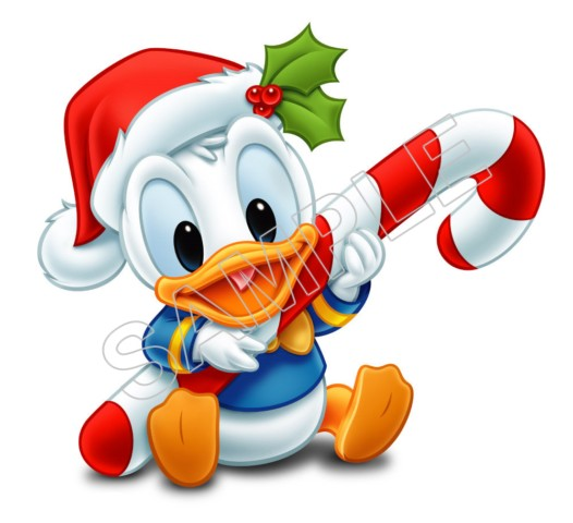 Donald Duck Baby Christmas T Shirt Iron on Transfer Decal #6