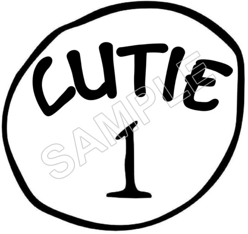 Dr. Seuss ~ Cat in the Hat ~ Cutie 1, 2, 3.. T Shirt Iron on Transfer Decal #1